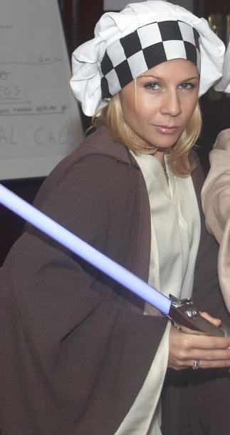 Gigi Edgley in a Jedi Costume