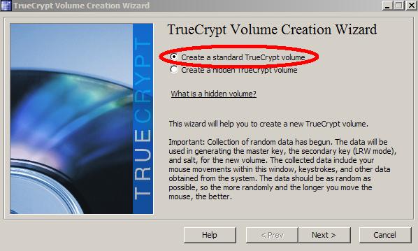 Create Standard Volume
