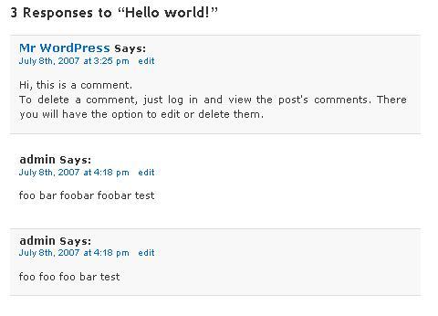 Original Comments