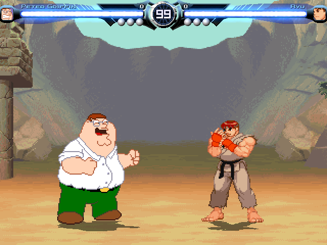 Peter Griffin vs. Ryu