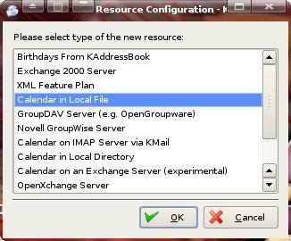 Calendar in Local File