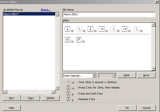 Macro Editor