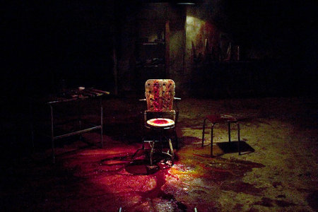 The chair in one of the torture rooms