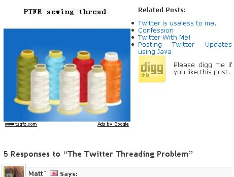 Twitter Threads According to Adsense