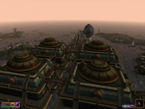 Vivec as seen from the roof of Foreign Quarter.
