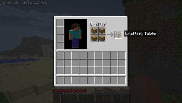 Getting started in the cubed world of minecraft game - How do you use a crafting table in minecraft ...