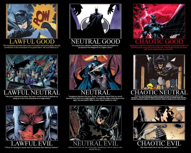 Batman is an alignment