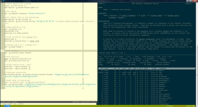 Using Tmux on a remote server