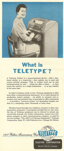 What is a teletype