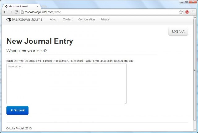 Markdown Journal