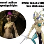 Daragon Age and Warhammer Fantasy Parallels