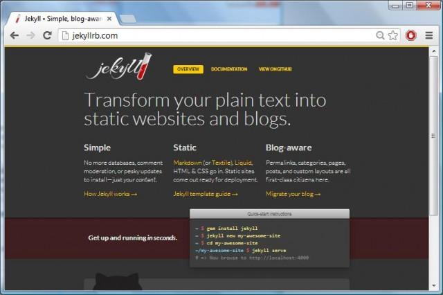 Current Jekyll Website