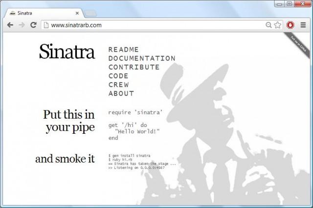 Sinatra Website