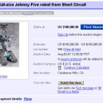 Oh noes! They be selling Johnny 5 on Ebay!