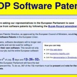 Stop Software Patents in Europe