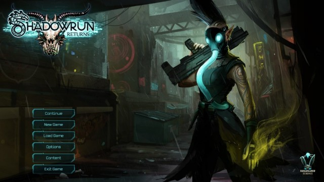 Shadowrun Titlescreen