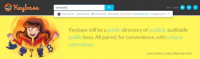 Keybase is searchable