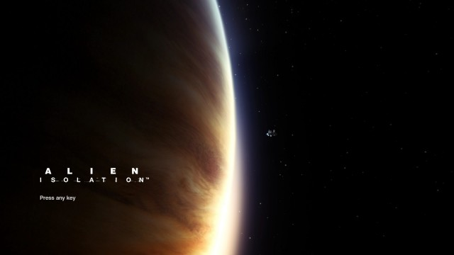 Alien Isolation title screen