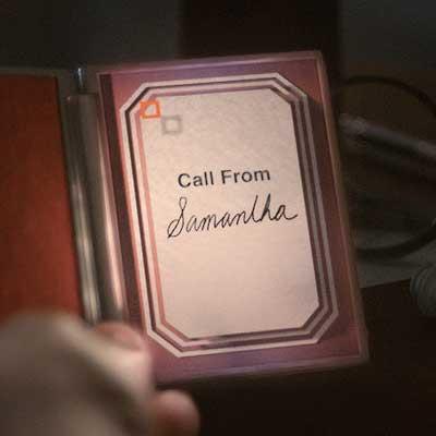 Samantha calls to say goodbye